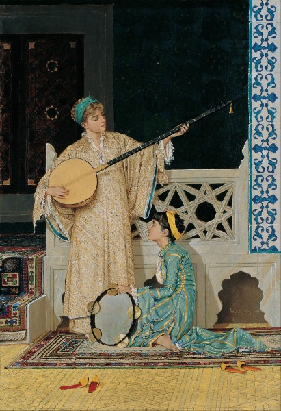 Osman Hamdi Bey - Two Musisian Girls - Google Art Project