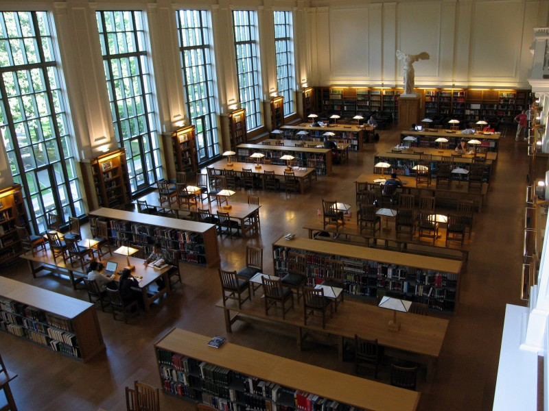 OSU Thompson Library - East reading room - view from balcony