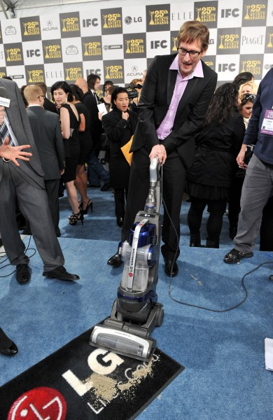 Ray McKinnon with the LG Electronics Kompressor Vacuum on 25th Spirit Awards Blue Carpet held at Nokia Theatre L.A. Live on March 5, 2010 in LA