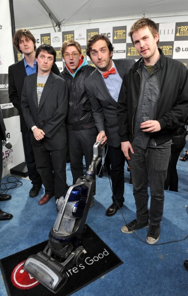 Trevor Moore, Timmy Williams, Darren Trumeter, Sam Brown and Zach Cregger with the LG Electronics Kompressor Vacuum on 25th Spirit Awards Blue Carpet held at Nokia Theatre L.A. Live on March 5, 2010 in LA