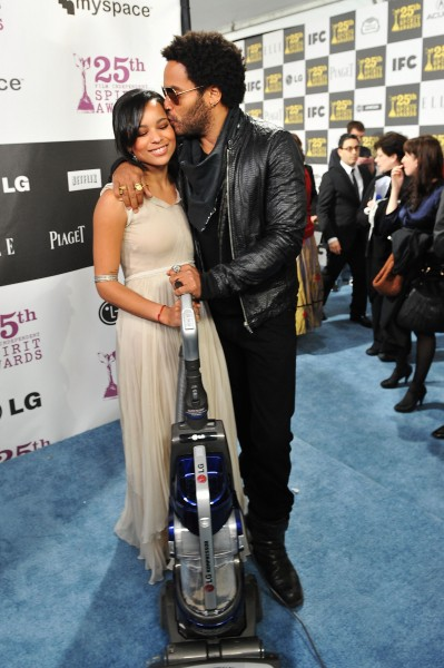 Zoe Kravitz and Lenny Kravitz at the 25th Spirit Awards