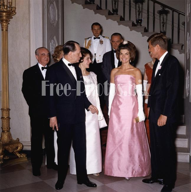 John F. Kennedy and Jacqueline Kennedy and André Malraux