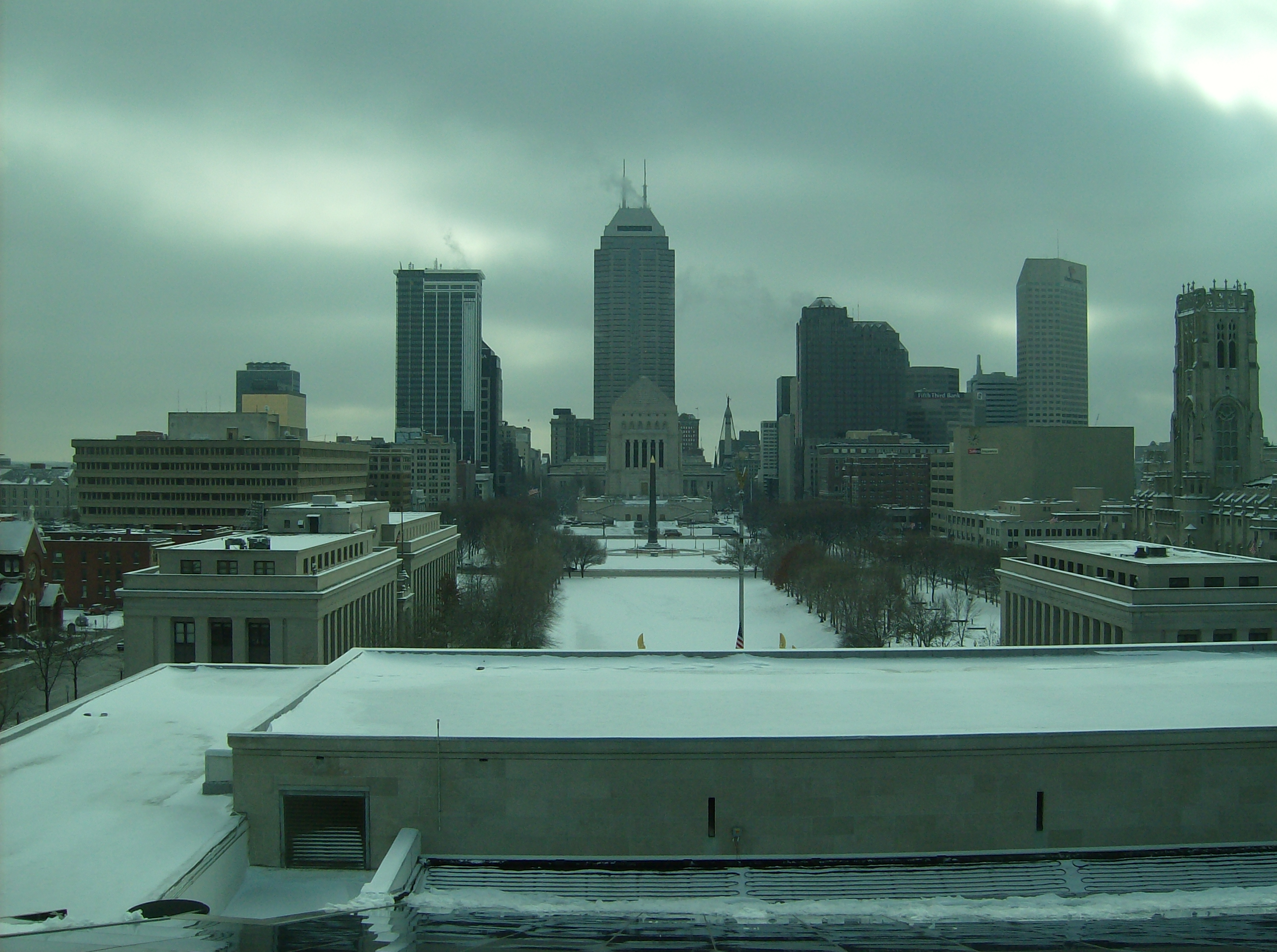 Downtown from Indianapolis Public Library