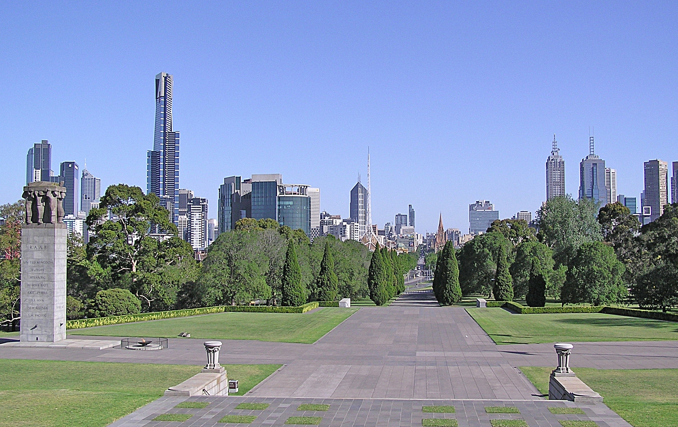 Melbourne CBD (View from the ground of Shrine of Remembrance)