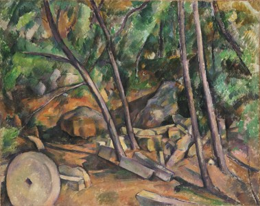 Paul Cézanne - Millstone in the Park of the Château Noir