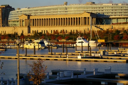 Soldier Field east side and marina