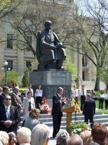 Yushchenko at Manitoba Legislature