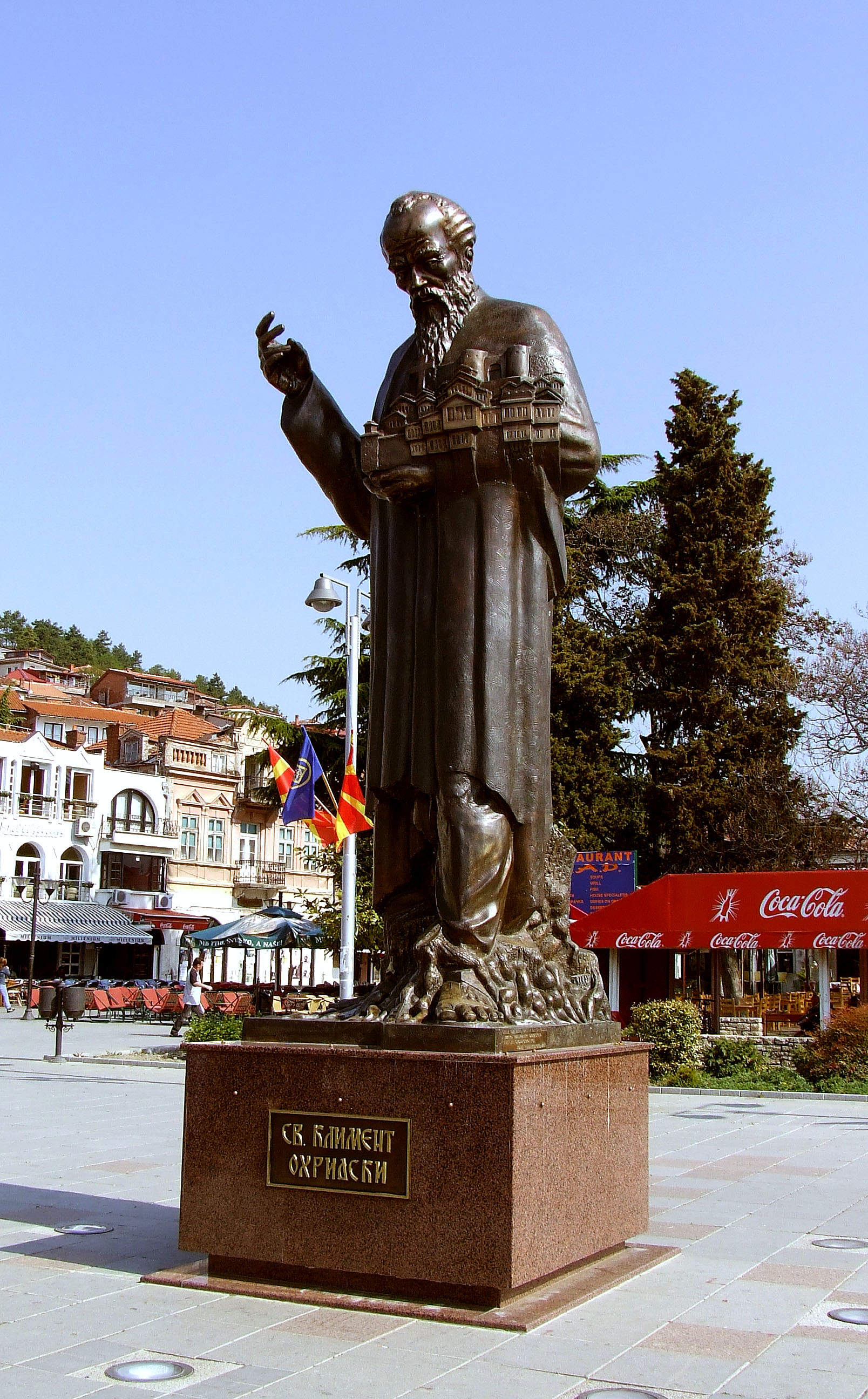 St Clement of Ohrid with model
