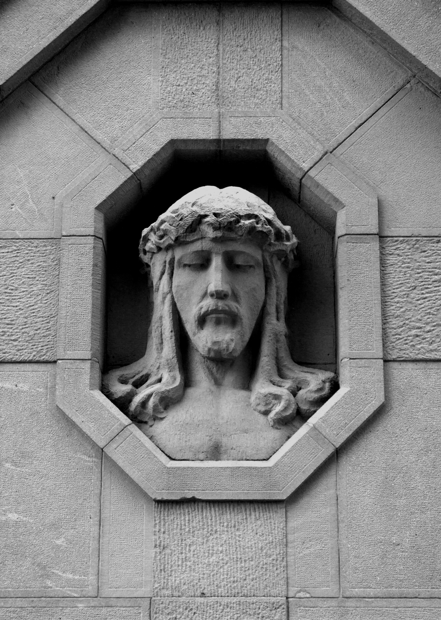 WWI cemetery nr 225 - Brzostek. Head of Jesus
