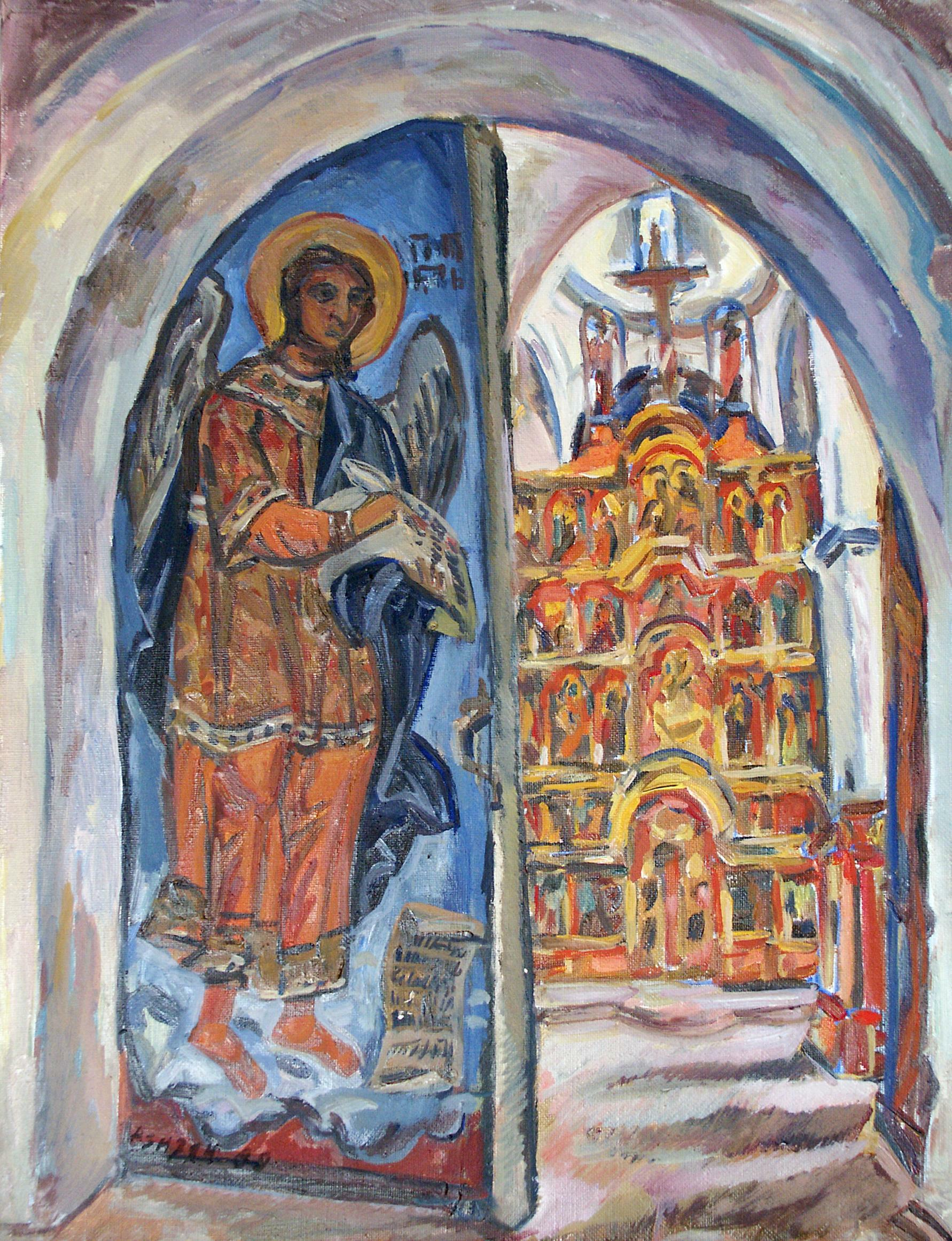Irina Azizyan Christmas cathedral. Introduction in the temple. Kargopol 1988
