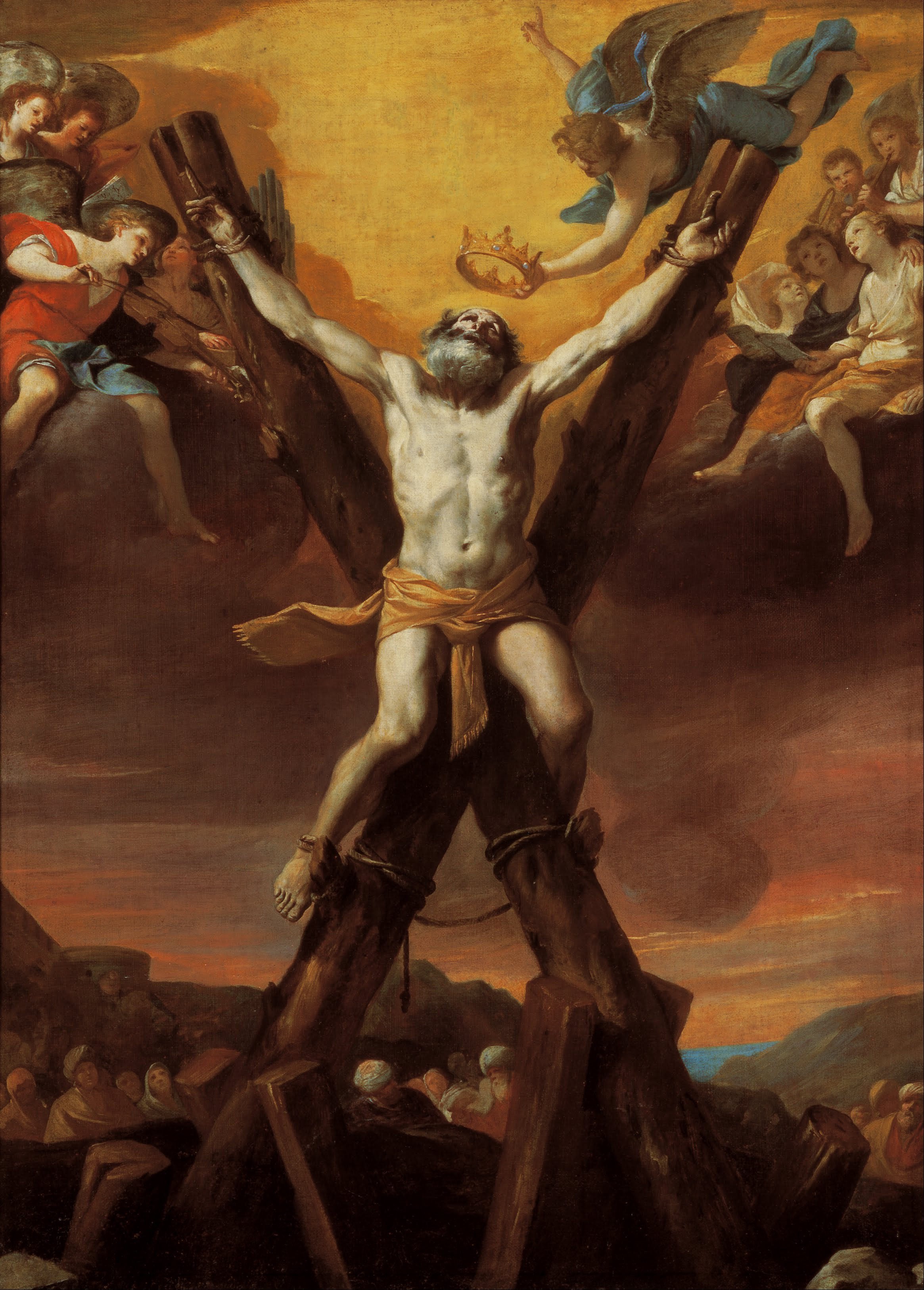 Mattia Preti - The crucifixion of St Andrew - Google Art Project