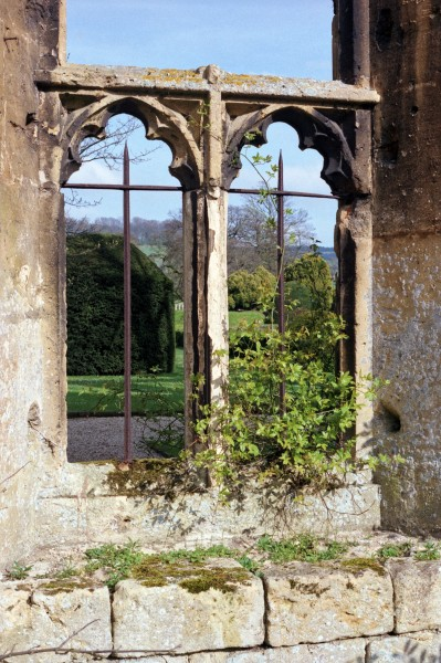 1992 Sudeley Castle ruins window Gloucestershire, England
