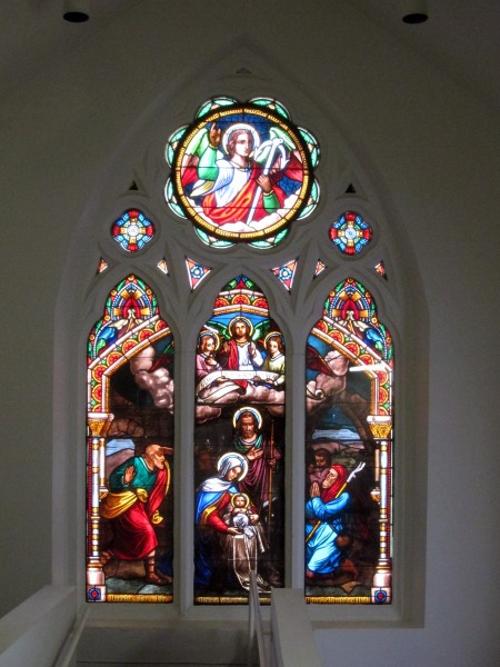 Basilica of Saint Mary of the Immaculate Conception (Norfolk, Virginia), interior, stained glass, The Nativity of the Lord