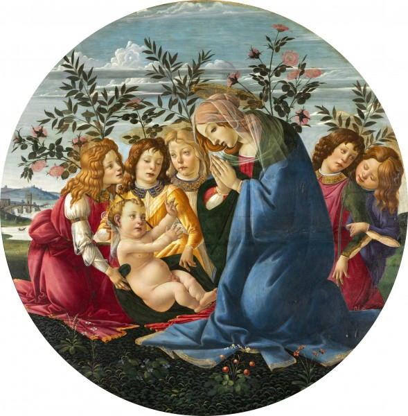 Botticelli - Madonna Adoring the Child with Five Angels - Baltimore Museum of Art 2