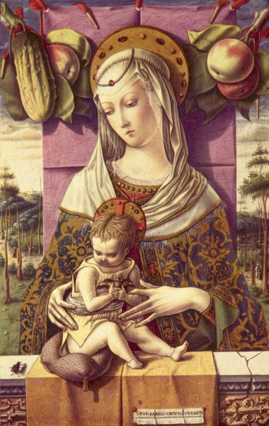 Carlo Crivelli 068 c. 1473 Maria mit Kind (Maria with the Child)