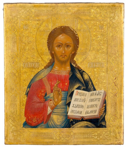 Christ Pantocrator Tempera on woodpanel