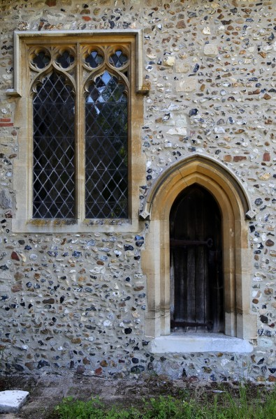 Church of St Andrew, Good Easter, Essex, England - chancel south door and window