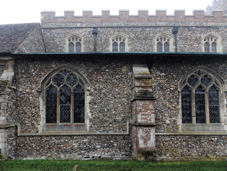 Church of St John, Finchingfield Essex England - North aisle windows