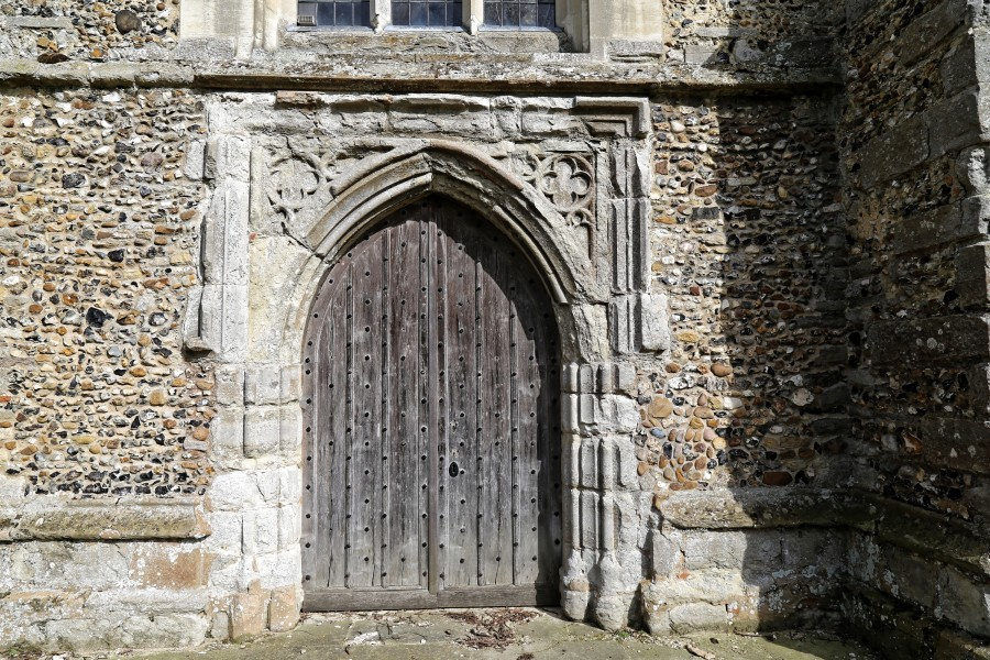 Church of St Mary Hatfield Broad Oak Essex England - tower west door