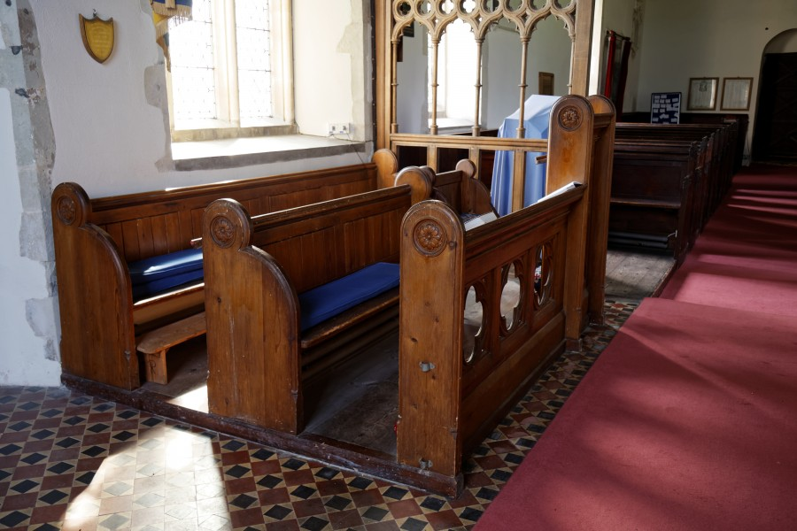 Church of St Mary Magdalen Laver Essex England - chancel choir stalls
