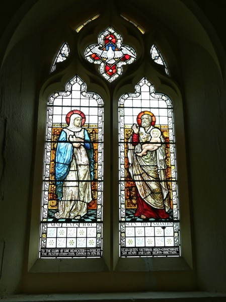 Church of St Mary Matching Essex England - stained glass 1