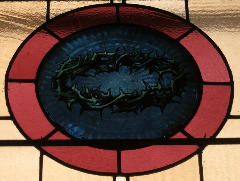 Church of the Atonement (Crooksville, Ohio) - stained glass, Crown of Thorns