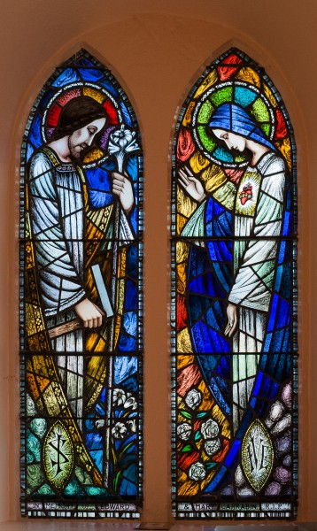 Frosses St. Mary's Church Joseph and Mary Window 2014 09 03