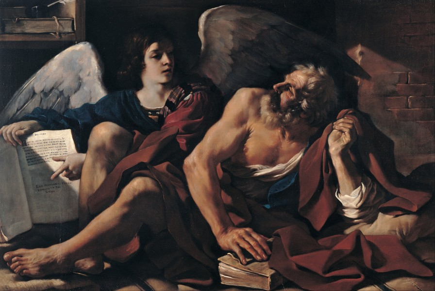 Guercino - Saint Matthew and the Angel - Google Art Project