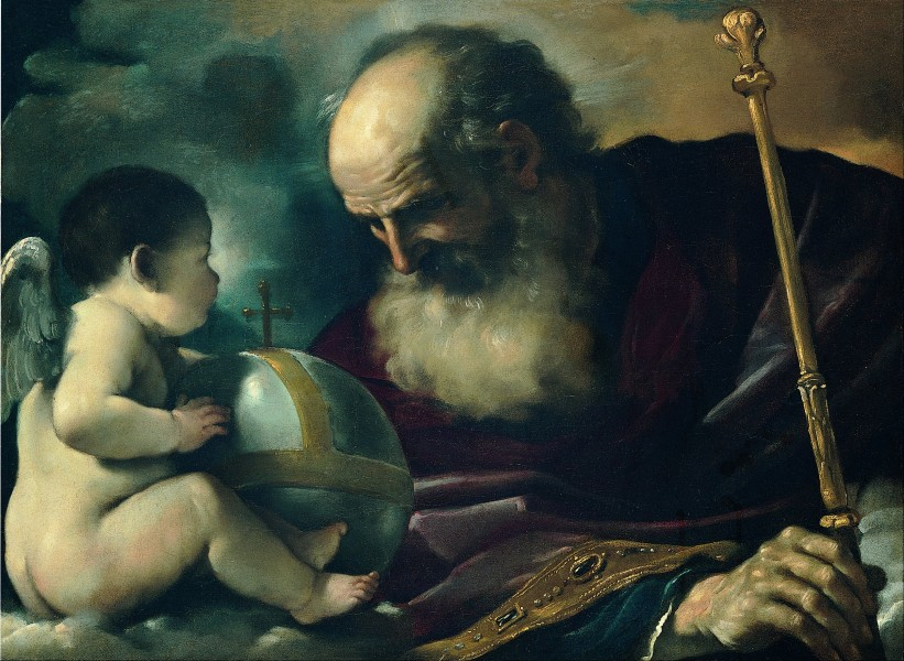 Guercino (Giovan Francesco Barbieri) - God the Father and Angel - Google Art Project