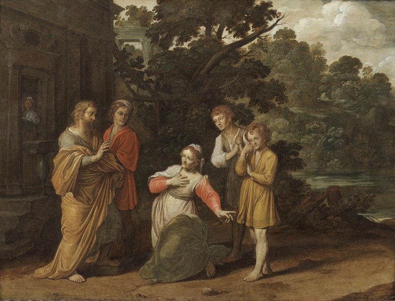 Jan Pynas or Tengnagel - Elisha and the Shunammite woman c.1600-1635