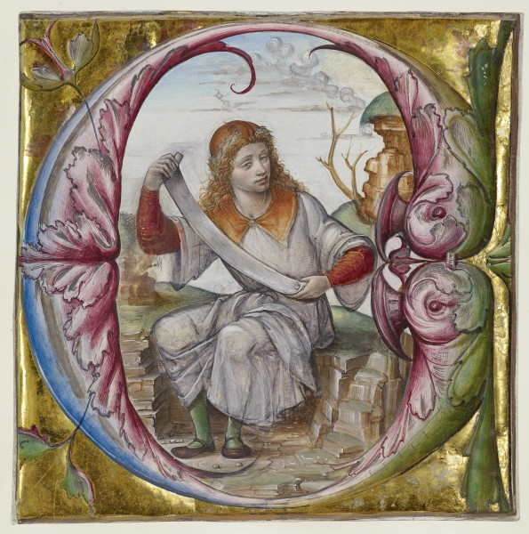 John the Evangelist from MS 104 (Getty museum)