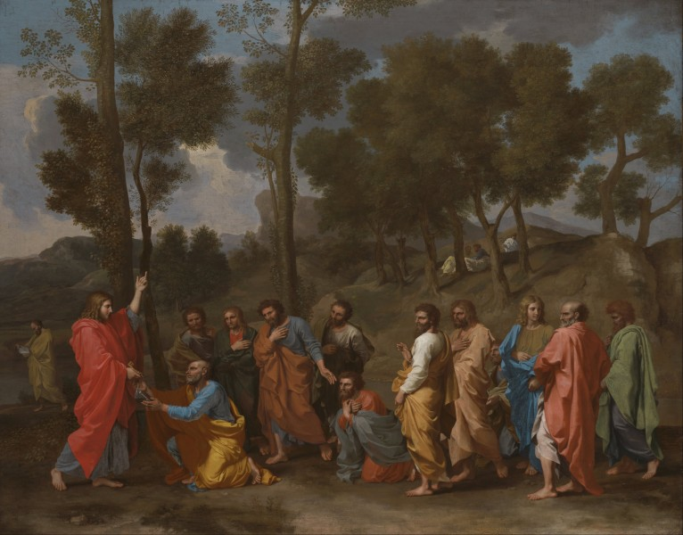Nicolas Poussin - The Sacrament of Ordination (Christ Presenting the Keys to Saint Peter) - Google Art Project