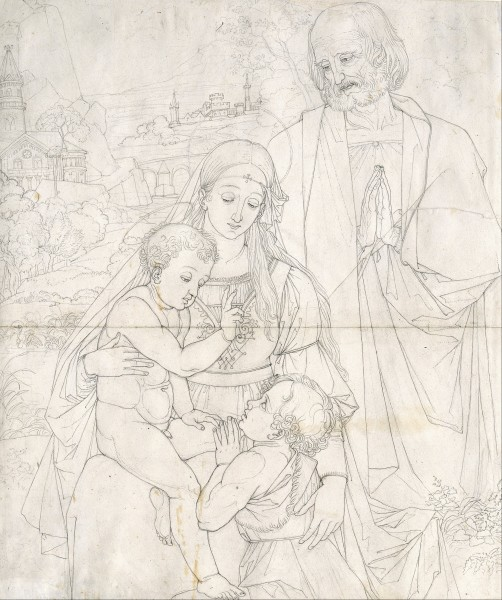 Peter von Cornelius - Holy Family with John the Baptist as a Boy - Google Art Project