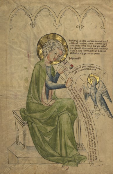 Saint John from MS 108 (Getty museum) verso
