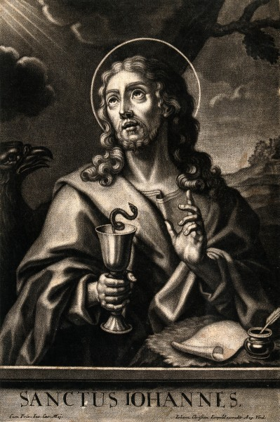 Saint John the Evangelist. Mezzotint by J.C. Leopold. Wellcome V0032395