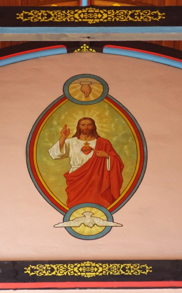 Saint John the Evangelist Church (Covington, Kentucky) - Father, Sacred Heart of Jesus, and Holy Spirit mural
