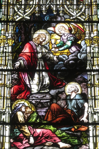 Saint Joseph Catholic Church (Somerset, Ohio) - stained glass, The Agony in the Garden