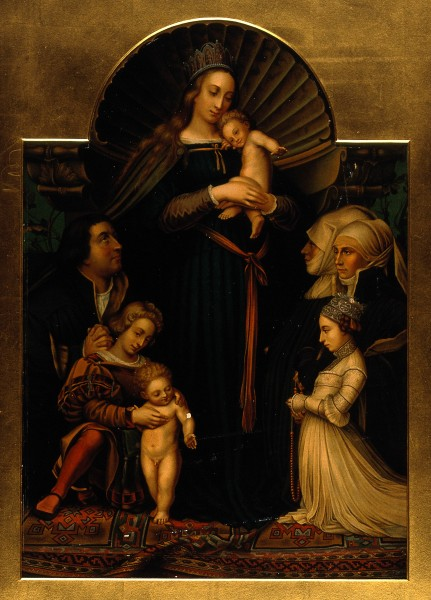 Saint Mary (the Blessed Virgin) with the Christ Child and a Wellcome V0034117