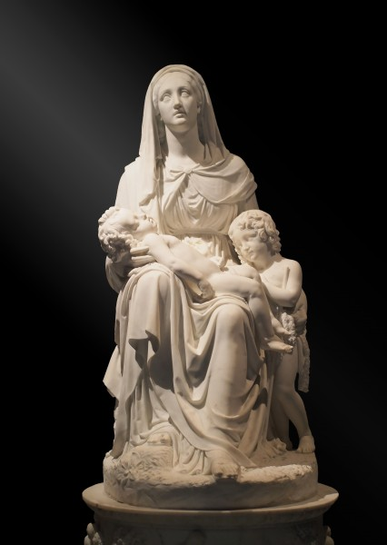 Sculpture of Madonna with child and St John (Kunsthistoriches Museum)