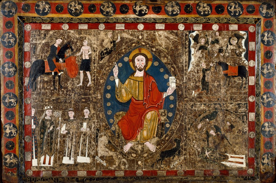 Spanish - Altar Frontal with Christ in Majesty and the Life of Saint Martin - Google Art Project
