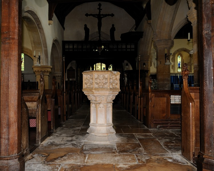St Michael and All Angels Font Stanton