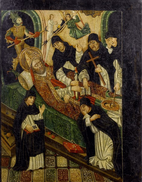 The Death of a Bishop Catalan 15th century
