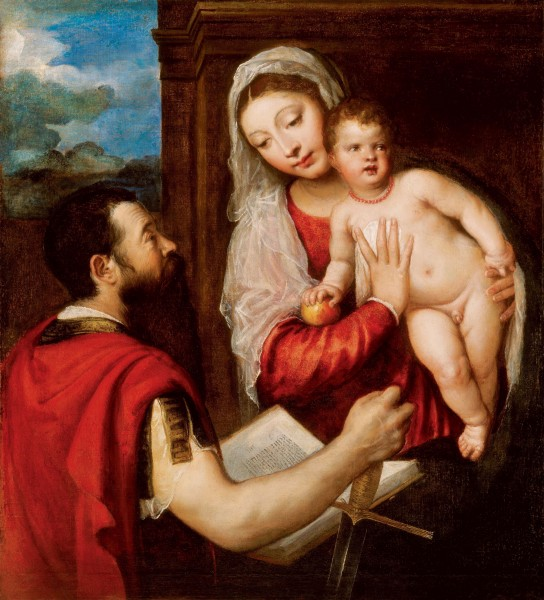 Tiziano Vecellio Virgin Mary with Child and St. Paul