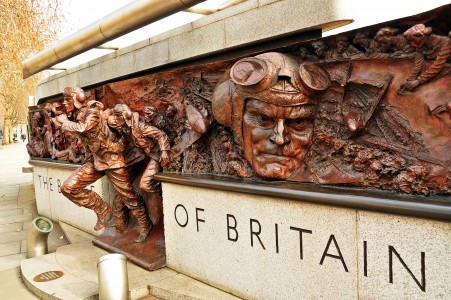 The Battle of Britain Monument. Victoria Embankment, London