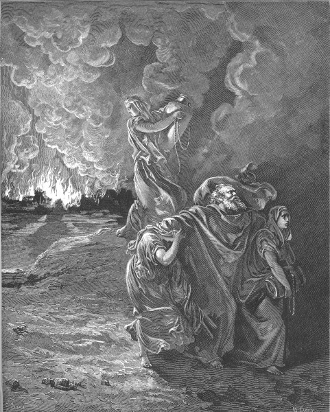 013.Lot Flees as Sodom and Gomorrah Burn