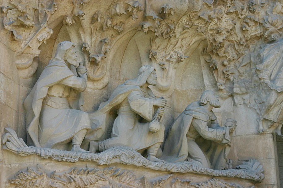 Adoration of the Magi - Nativity Facade - Sagrada Família - Barcelona 2014