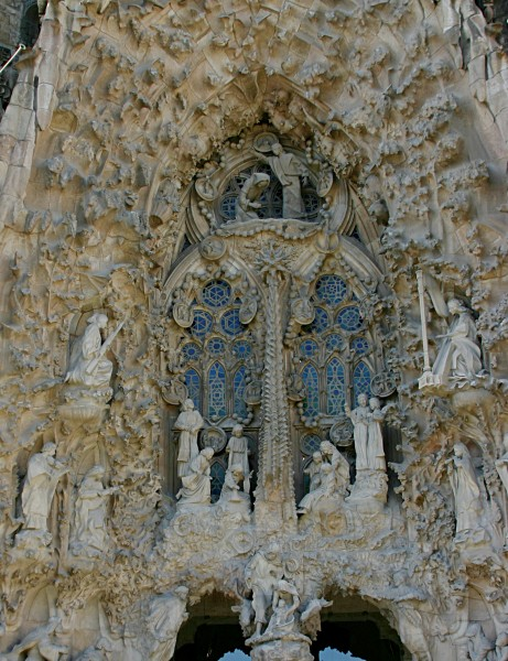 Annunciation, Star of Bethlehem and Nativity - Nativity Facade - Sagrada Família - Barcelona 2014