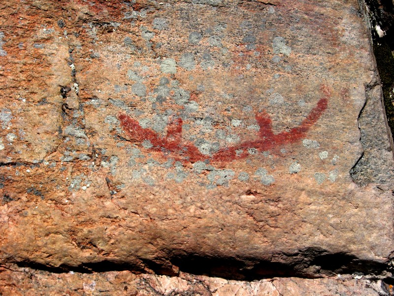 Canoe pictograph