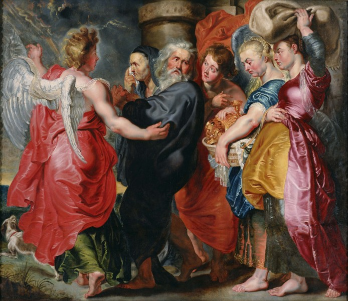 Jacob Jordaens - The Flight of Lot and His Family from Sodom (after Rubens) - Google Art Project
