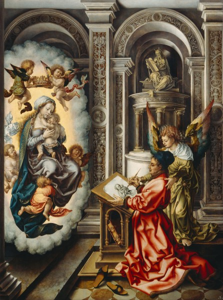 Jan Gossaert - St. Luke Painting the Madonna - Google Art Project